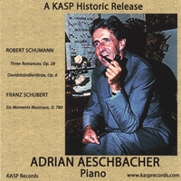 Adrian Aeschbacher | Pianist Adrian Aeschbacher Plays Music of Schumann and Schubert