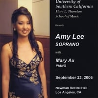 Amy Lee, Soprano | Live at Newman Hall, USC