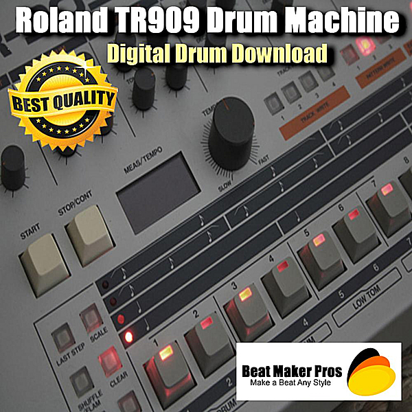 beat maker pros make a beat any style roland tr909 drum machine digital drum download cd. Black Bedroom Furniture Sets. Home Design Ideas
