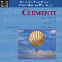 Diane Hidy & Keith Snell | Clementi: Six Sonatinas Op. 36, for the Piano