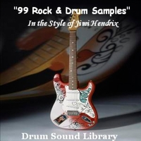 Drum Sound Library | 99 Rock & Drum Samples (In the Style of Jimi Hendrix)