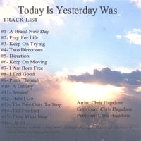 Christopher K. G. Hagadone | Today Is Yesterday Was