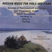 Joel Rosenberg, Jei-deng Lu, Susan Duehlmeier & Ning Lu | Russian Music for Viola and Piano