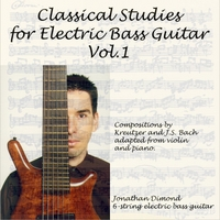 Jonathan Dimond | Classical Studies for Electric Bass Guitar, Vol.1