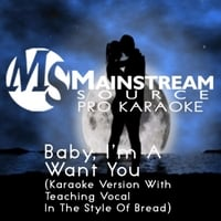 Mainstream Source Pro Karaoke | Baby, I'm a Want You (Karaoke Version With Teaching Vocal in the Style of Bread)