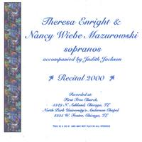 Theresa Enright & Nancy Wiebe Mazurowski | Recital 2000