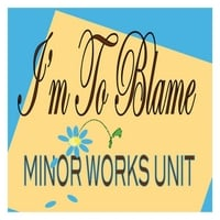 Minor Works Unit | I'm to Blame
