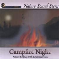 Nature Sound Series | Campfire Night (With relaxing music)