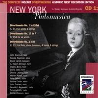 New York Philomusica Chamber Ensemble | The Complete Mozart Divertimentos Historic First Recorded Edition CD 1
