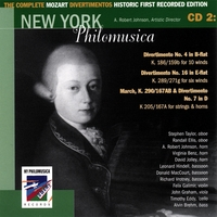 New York Philomusica Chamber Ensemble | The Complete Mozart Divertimentos Historic First Recorded Edition CD 2