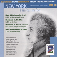 New York Philomusica Chamber Ensemble | The Complete Mozart Divertimentos Historic First Recorded Edition CD 3