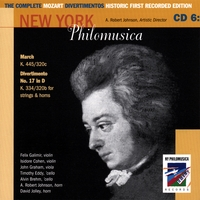 New York Philomusica Chamber Ensemble | The Complete Mozart Divertimentos Historic First Recorded Edition CD 6