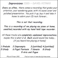 David Pitman | Improvisions 1999
