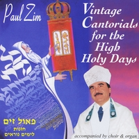 Paul Zim | Vintage Cantorials for the High Holidays