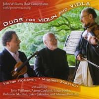 Victor Romanul, Michael Zaretsky | John Williams Duo Concertante Duos for violin and viola