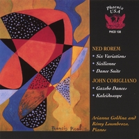 Ned Rorem, John Corigliano / Goldina and Loumbrozo, pianos | Dances and Variations for Two Pianos