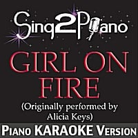 Sing2Piano | Girl On Fire (Lower K