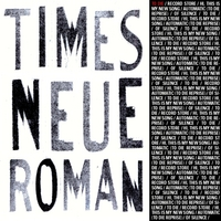Times Neue Roman | To Die EP