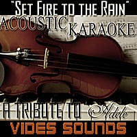 Vides Sounds | Set Fire to the Rain (Acoustic Karaoke Version) [A Tribute to Adele]
