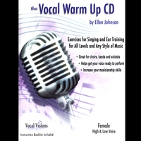 Ellen Johnson | The Vocal Warm Up CD/Female High & Low Voice