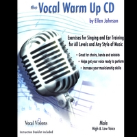 Ellen Johnson | The Vocal Warm Up CD/Male High & Low Voice