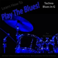 Windy Town Artists | Learn How to Play the Blues! (Techno Blues in the Key of G) [for Drummers]