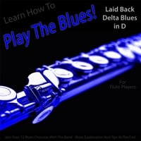 Windy Town Artists | Learn How to Play the Blues! Laid Back Delta Blues in D for Flute Players