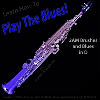 Windy Town Artists | Learn How to Play the Blues! 2AM Brushes and Blues in D (For Soprano Saxophone Players)
