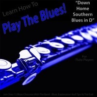 Windy Town Artists | Learn How to Play the Blues! (Down Home Southern Blues in D) [for Flute Players]