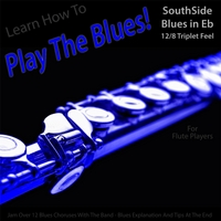 Windy Town Artists | Learn How to Play the Blues! (Southside Blues in Eb 12/8 Triplet Feel) [For Flute Players]
