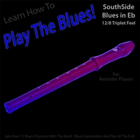 Windy Town Artists | Learn How to Play the Blues! (Southside Blues in Eb 12/8 Triplet Feel) [For Recorder Players]