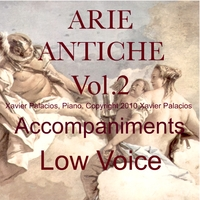 Xavier Palacios | 15 Arie Antiche (Parisotti Edition, Vol. 2) [Accompaniments for Low Voice with transpositions]