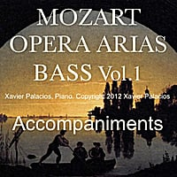 Xavier Palacios | Mozart Opera Arias Accompaniments:Bass, Vol. 1